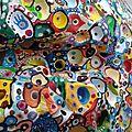 Hervé THAREL SCHMIMBLOCK'S erda 2015 - acrylique sur argile Ø ± 30cm détail5
