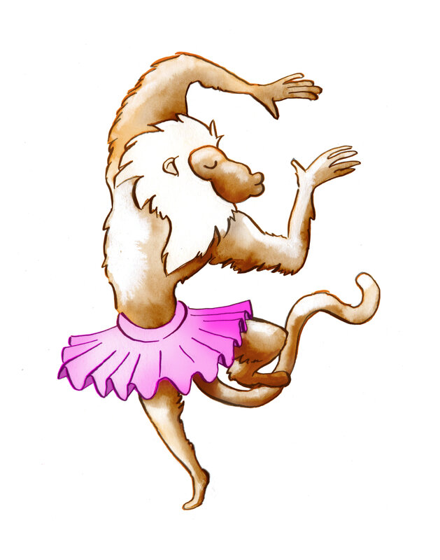singe danse couleur 1