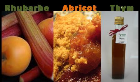 rhubarbe abricot thym