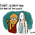 15 août, dalaï lama, vierge marie et religion star