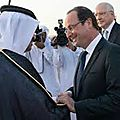 Hollande au qatar !