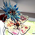 Fleurs en verre fusing