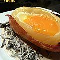 Oeufs cocotte en pomme de terre et champignons