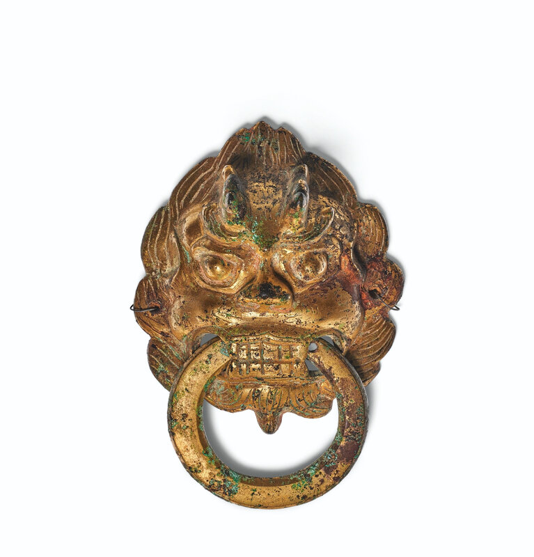2020_NYR_19039_0890_000(a_gilt-bronze_leonine_mask-form_fitting_with_loose_ring_china_northern031921)