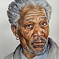 Morgan freeman ! nouveau portrait aquarelle...