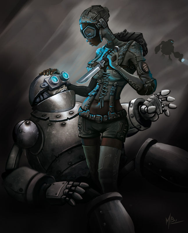Pin-up Commando Steampunk