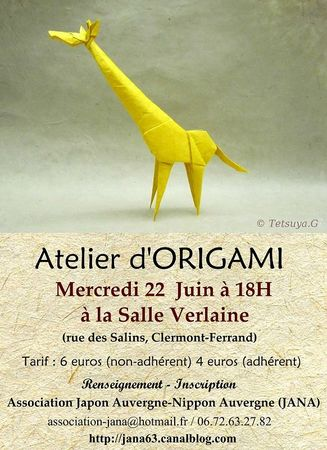 Atelier Origami 22 juin 2011