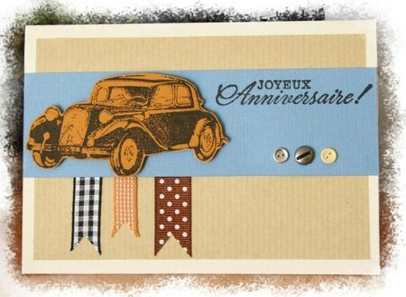 carte anniversaire traction