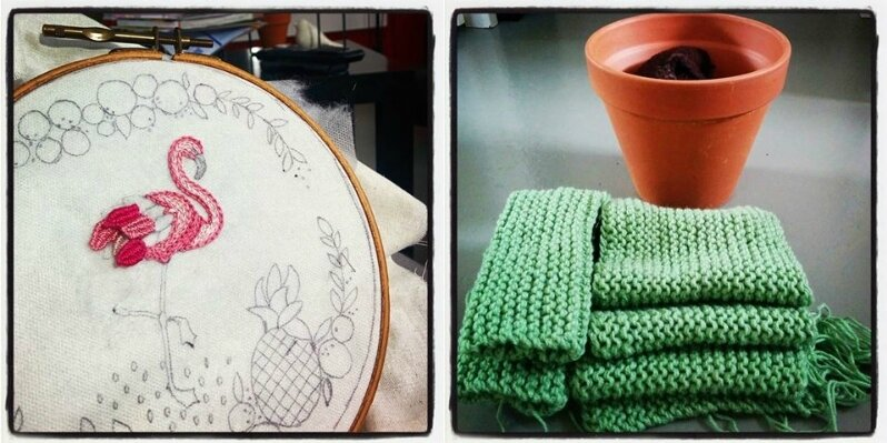 encours tricot crochet broderie