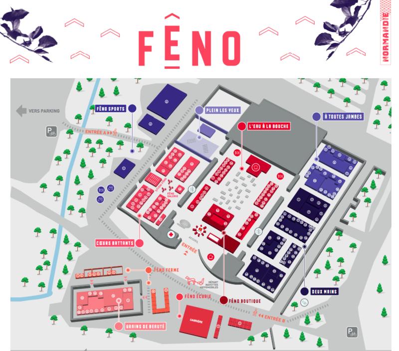 Feno_2019_Caen_Parc Expo_5 espaces_plan