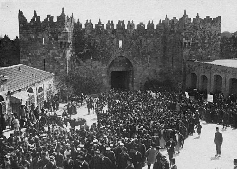 1920-manifestation contre l immigration juive en Palestine