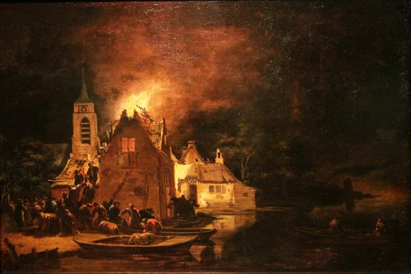 A_Fire_at_Night_(Egbert_van_der_Poel)