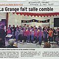 Le concert de la saint valentin dans la presse