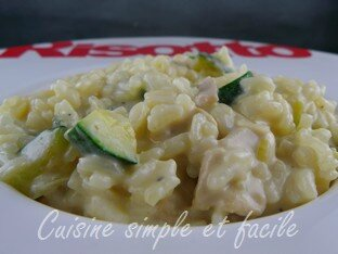 risotto courgettes poulet 05