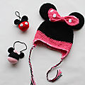 Bonnet au crochet minnie mouse