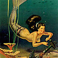 Un bon tour (sirène) - neat trick (mermaid) by bill layne - circa 1950