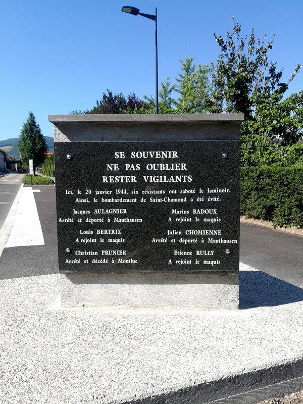 plaque 20 janvier 1944, sabotage laminoir,16 juillet 2019, 10 h 22 (2)