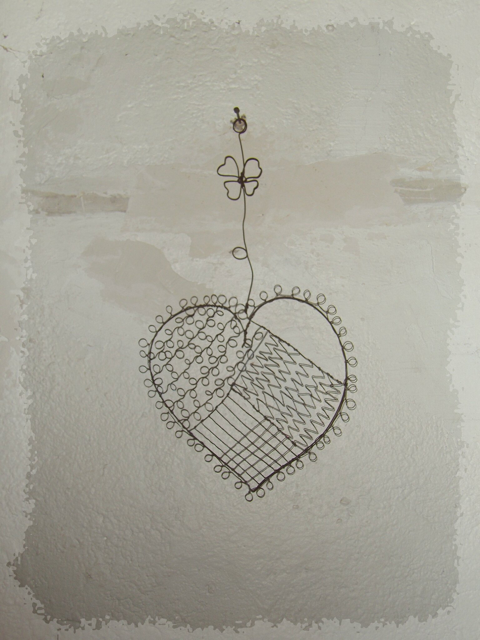 coeur patchwork fil de fer