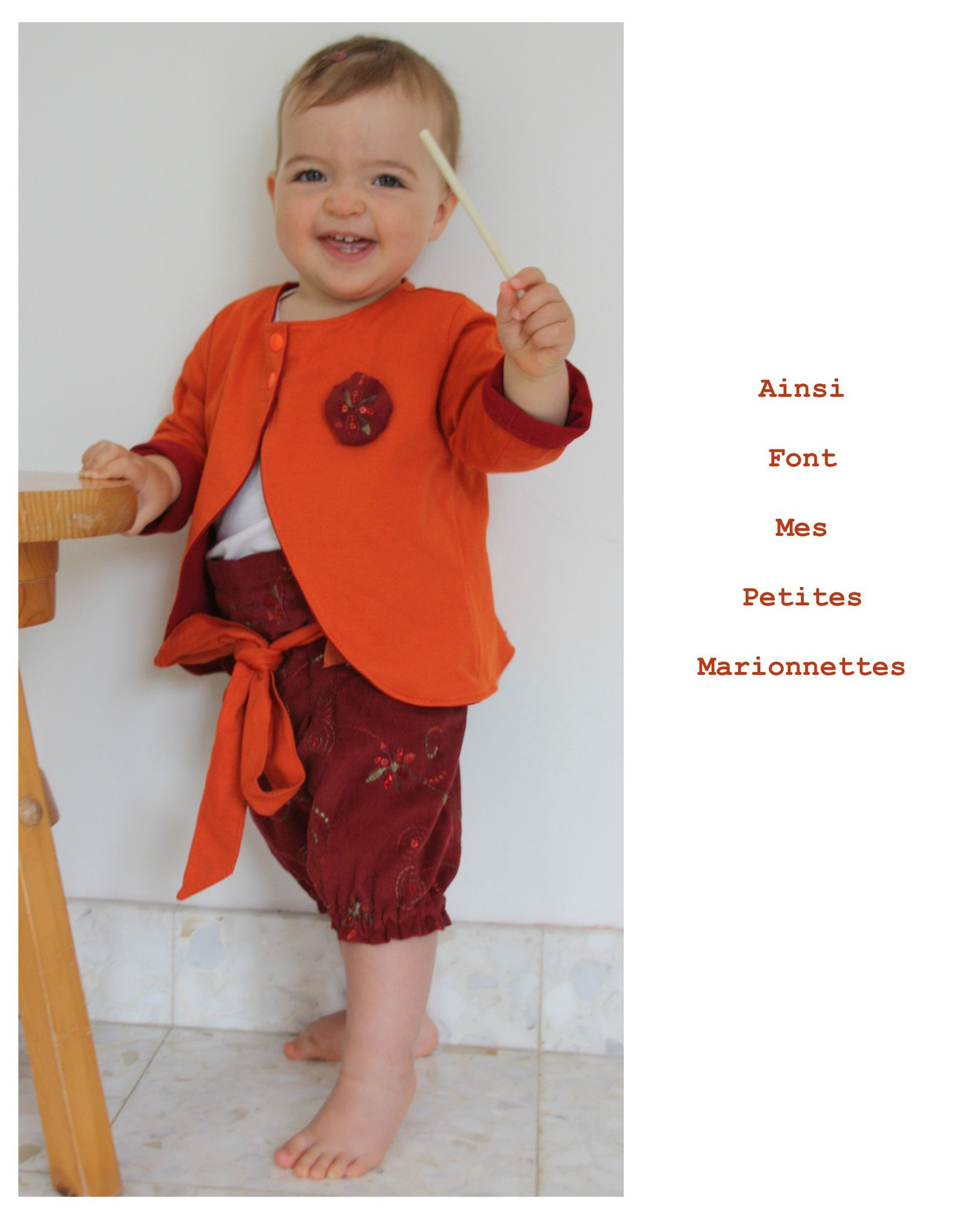 ens boudoir gilet rouge orange 10