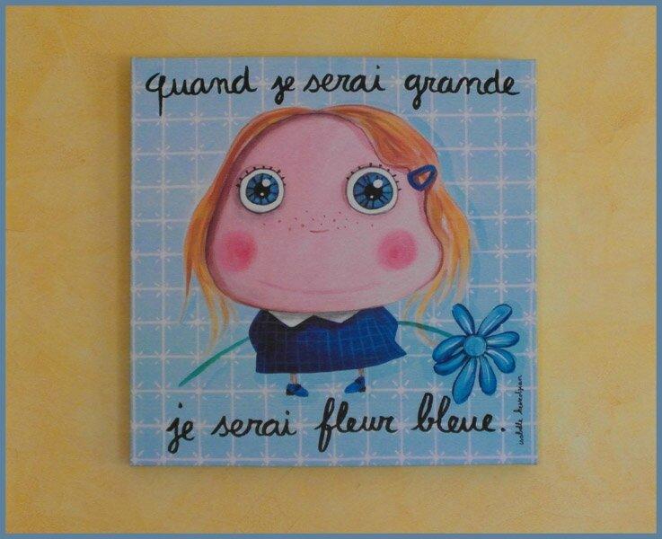 tableau fleur bleue2
