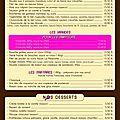La mascotte - 5 - carte et desserts
