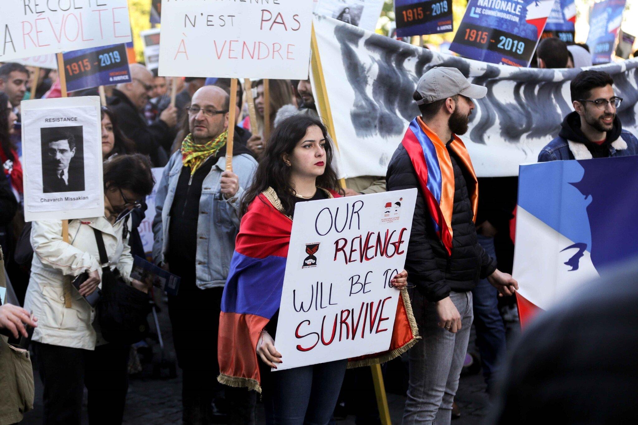 Édouard Philippe défend la commémoration du génocide arménien. © Michel Stoupak. Mer 24.04.2019, 18h58m07.