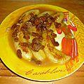 Bananes aux raisins secs flambées au rhum