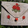 enveloppe roses verso pour Francine