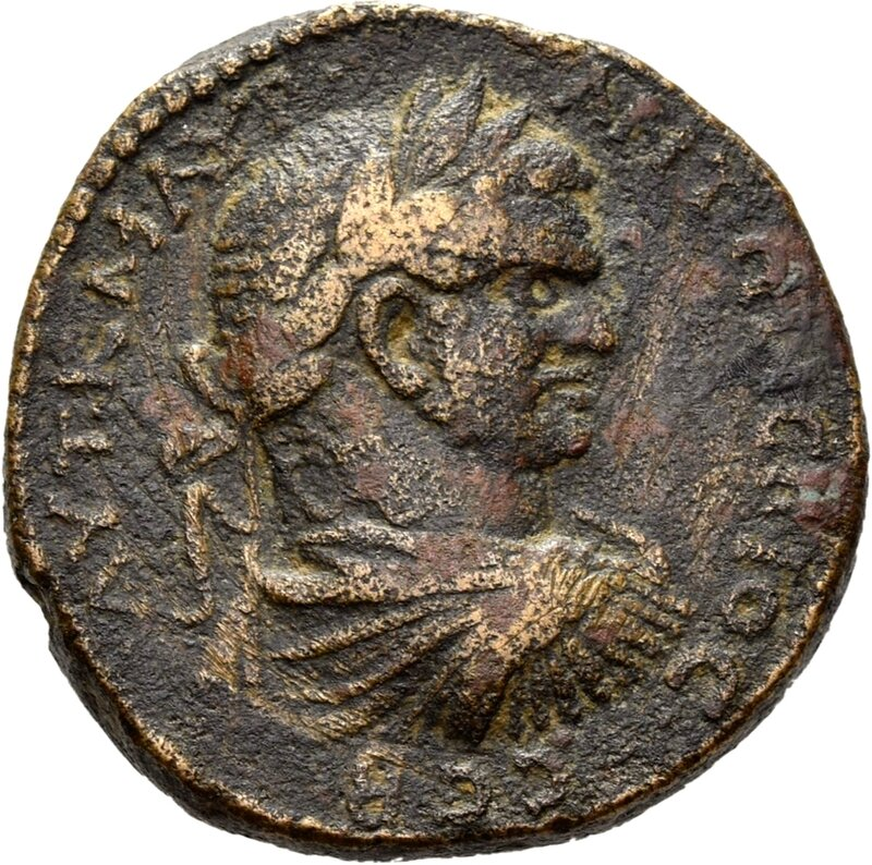 Emesa , front, bust of Caracalla, 216-217 AD, © State Museums of Berlin, Coin Cabinet