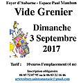 Vide grenier le 3 septembre 2017