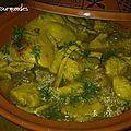 Tajine de poulet citron et olives