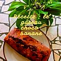 [recette] le gâteau choco-banane