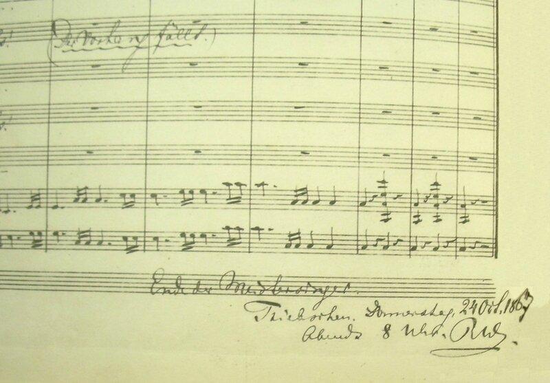 Dernière page partition des Maîtres Chanteurs