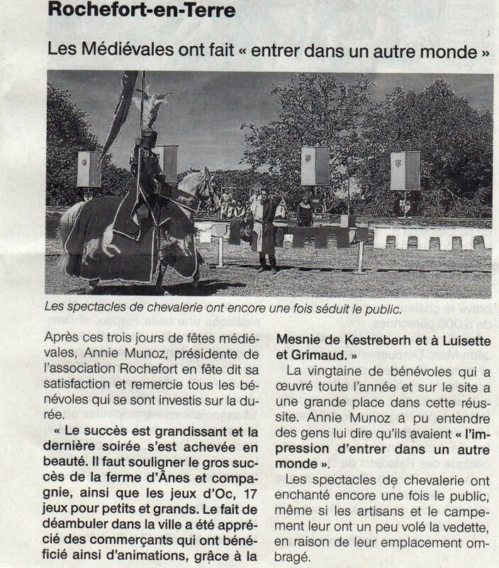 article ouest france 17 aout 2016