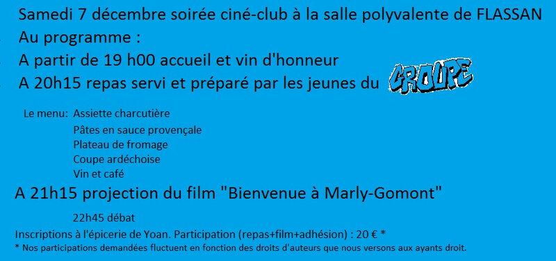 Pub pour site et mail du film pour le 7 décembre 2019 Bienvenue à Marly Gomont