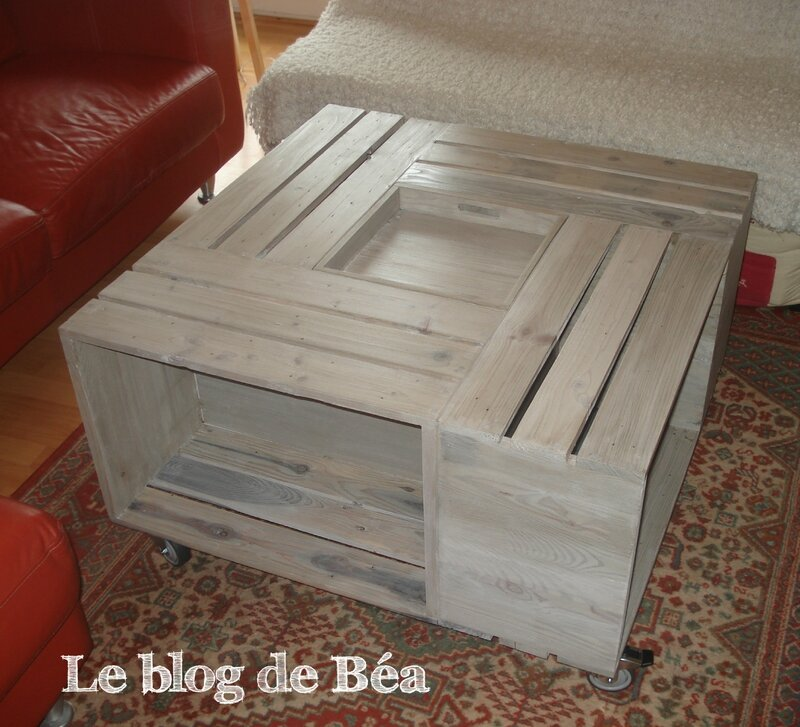 DIY table basse bar