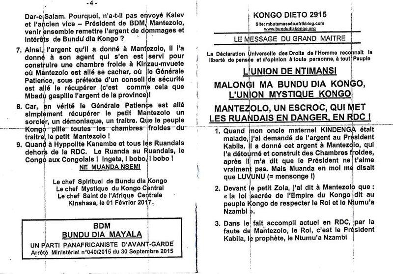MANTEZOLO UN ESCROC QUI MET LES RUANDAIS EN DANGER EN RDC a