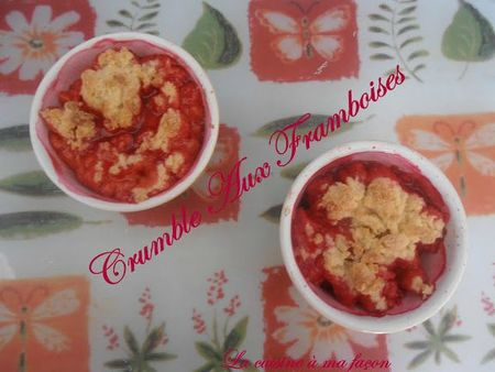 crumble framboises 1