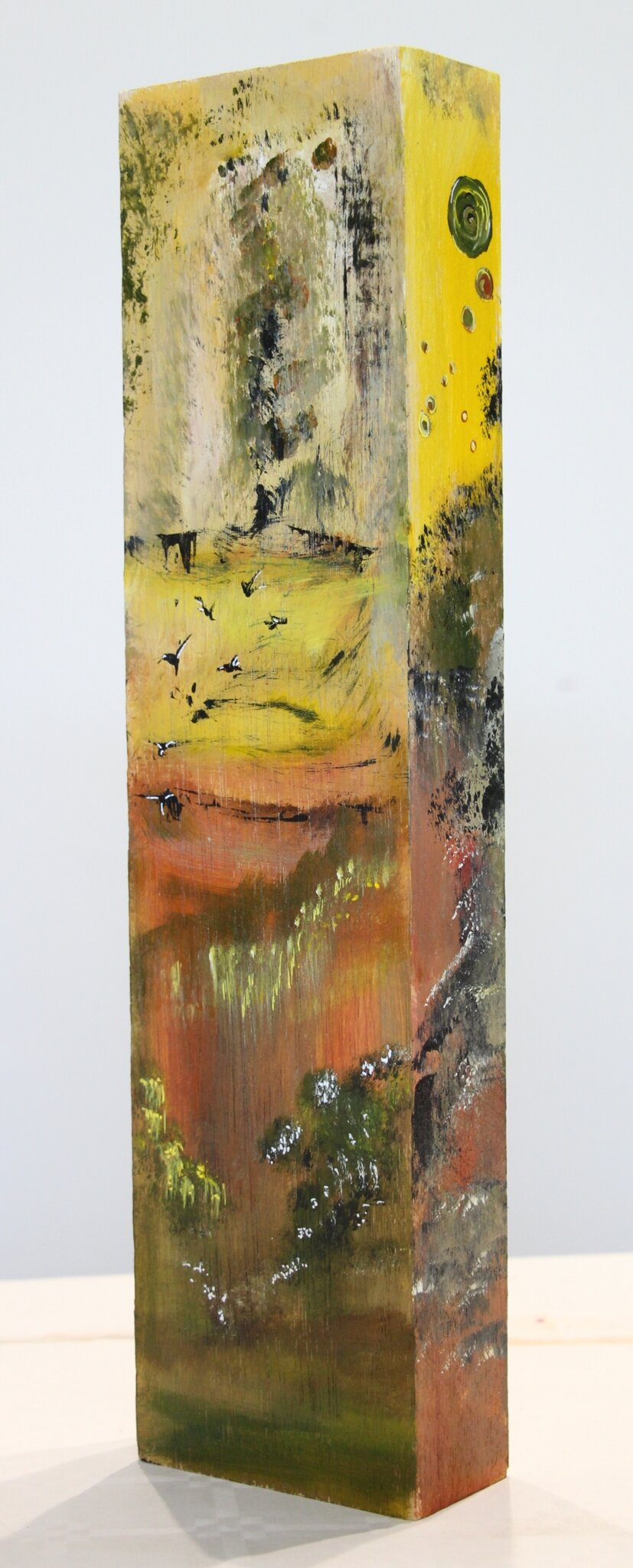 Sur bois 1- acryl 2019- 40X10X5cm - (n°158)