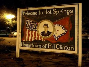 hot springs arkansas vacation tourism welcome bill clinton