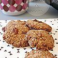Cookies praliné au son d'avoine de marie chioca