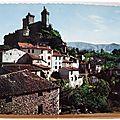 Foix - le chateau et le vieux pont sur l'Arget