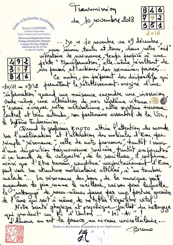 Lienn manuscrit du 10 novembre 2018