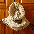 Un ensemble bonnet et snood tweed
