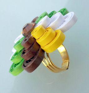 bague quil marron vert jaune blanc 2
