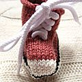 Chouettes baskets * mini knitted trainers