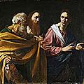 Les tableaux du caravage à rome (3/20). l'exposition du « caravage de la reine » à la gare de termini.