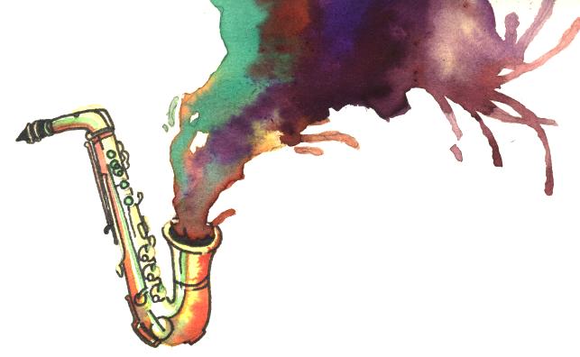 Saxophone alto illustrations - Dessin saxophone ...