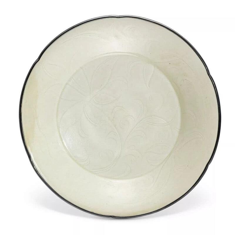 A Dingyao 'lotus' lobed dish, Northern Song dynasty (960-1127)