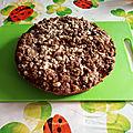 Crumb cake vegan aux kiwis, sans gluten, sans lait